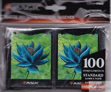 BLACK LOTUS FLOWER MATTE 100-COUNT ULTRA PRO MTG deck protectors card sleeves