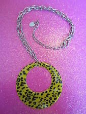 YELLOW LEOPARD PRINT NECKLACE