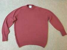 Original The Sweater Shop pure new wool jumper in muted red. Tasteful colour XL