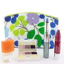 Clinique 5-PC Skincare Makeup Gift Set- Shadow trio;Mascara;Chubby Stick;Perfume