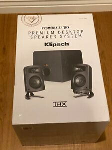 Klipsch ProMedia 2.1 THX Computer Speakers w Subwoofer BRAND NEW 🔥 Complete SET