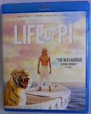 Life of Pi WS Blu-ray/DVD  2013, 2-Disc Set NO CODE SHEET !  NO U/V copy !