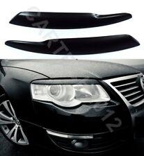 Fits Volkswagen Passat B6 3C 2005-2010 Eyebrows Headlights Spoiler ABS PLASTIC