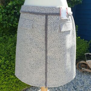 TU Skirt Size 14 Thick Grey Soft A-Line BNWT Woven