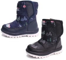 Kids Toddler Boys Girls Thick Snow Boots Fleece Lined Thermal Waterproof Shoes