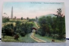 Vermont VT Bennington Red Bridge Postcard Old Vintage Card View Standard Post PC