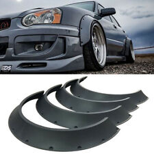 4Pcs Universal JDM Fender Flares New School Wheel Arches ABS 60mm + 80mm Width