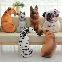3D Dog Print Pillow Cushion Lovely Plush Dolls Stuffed Soft Toy Home Decor Gifts