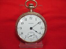 1908 AMERICAN WALTHAM  POCKET WATCH 18S GOLD FILLED CASE 15 JEWELS RUNNING