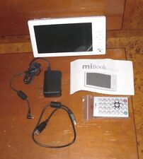 "MiBook eBook Reader Photoco Mi Book Device 6"" Screen w/ Remote - White (Tested)"