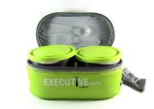 Milton Executive Lunch Box Soft Insulated Tiffin Box green