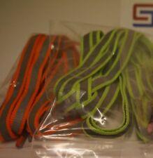 1 Pair Running Reflective Sports Shoe Laces (120cm FlatLaces)-  Orange/Grey