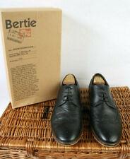 Mens Berties Black Leather Aston Plain Brogues Size UK 10 EU 44
