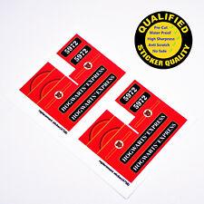 CUSTOM sticker for LEGO 4758 Hogwarts Express, Premium quality sticker*2