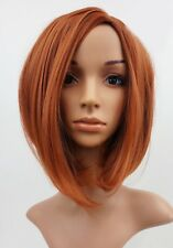 W91 Light Auburn Ginger Mix Mid Length Bob Ladies Wig Natural Look