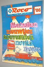 ROCO novedades 1986 '86 nieuwtjes nouveautés NOVITA Noticias 80 9 86 ålh4
