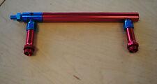 Billet Aluminum Fuel Log Line For Holley 4150  Double Pumper Red  Fits Sbc Bbc