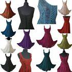 Midi Boho Dress Bridesmaid Party Corset Pagan Lace up 8 10 12 14 16 18 20 22