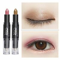 Double Headed Cosmetic Eye Shadow Stick Highlighter Eyeliner Pencil Pen HOT