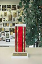 """HORSESHOE PITCHER PITCHING TROPHY FREE LETTERING 12 1/2"""" TALL YOUR COLOR CHOICE"""