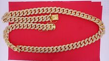 45 Carats White Diamonds Solid YG Miami Cuban Link 17 MM Chain Necklace ASAAR