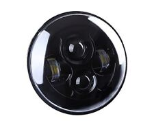 LED 7 Inch Round Projector Headlight Black Housing Low/High H6024 H6012  Single