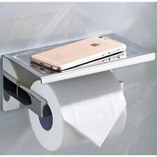 WC Toilettenpapierhalter Klopapierhalter Papier-rollenhalter Edelstahl Chrom