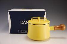 Dansk Kobenstyle YELLOW Mini Enamel Saucepan with Lid 1 Quart Qt. NEW IN BOX