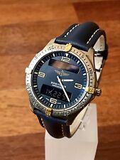 BREITLING Men's Watch, AEROSPACE Model F65062, BLUE, Multi-Function, 40mm