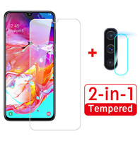 For Samsung Galaxy A71 A50 2 in 1 Screen Protector Camera Lens 9H Glass Covers