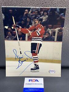 Denis Savard Signed 8x10 Photo Chicago Blackhawks - PSA/Dna #3