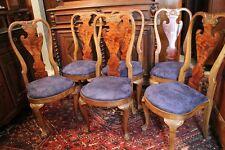 Suite de 6 chaises à haut dossier en acajou de style anglais pieds claw and ball