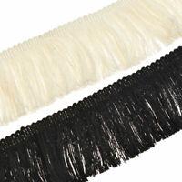 2 Yards Cotton Tassel Ribbon Fringe Trim Garment Fancy Dress Decor Sewing Crafts