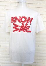Know Wave White T-shirt With Red Logo Size Large