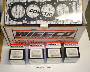 WISECO CK117 FORGED BIG BORE 637cc PISTON KIT 2mm OVER DRAGBIKE YZF-R6 YAMAHA