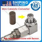 90° Engine Light Check Fix Bung Mini Catalytic Converter O2 Oxygen Sensor Spacer