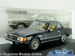 MERCEDES BENZ 350 SL MODEL CAR 1971 BLUE 1:43 SCALE IXO HARD TOP 350SL K8