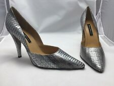 Beverly Feldman Shoes 29262 Beige/ Sliver Snake Skin 11M NIB