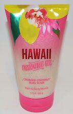 BATH & BODY WORKS HAWAII PASSIONFRUIT KISS CRUSHED COCONUT BODY SCRUB WASH NEW