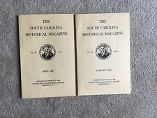 The South Carolina Historical Magazine  Vol. 68  No 1 &2  1967 SC Book