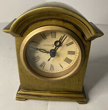 "Howard Miller Gold Wood 5.5"" Tabletop Mantle Clock - Tested - Works Great!"
