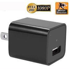 Mini HD 1080P Camera USB Wall Plug Charger Spy Hidden Camera Nanny  Recorder US