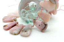 Natural Pink Opal Smooth Flat Nugget Triangle Teeth Loose Gemstone Beads