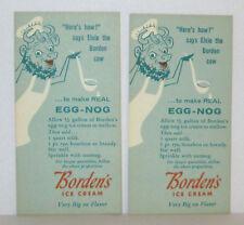 vintage BORDEN'S ICE CREAM ELSIE BORDENS EGG NOG RECIPE ADVERTISING CARD (2)