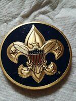 Boy Scouts Assistant Scoutmaster Challenge Coin BSA Blue Enamel Engravable