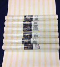 Yellow and White Stripe Wallpaper Village Prepasted #5802301 (Lot of 6 Dbl Rls)