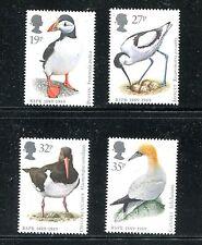 GREAT BRITAIN 1239-42, 1989 BIRDS, MNH, (ID6011)