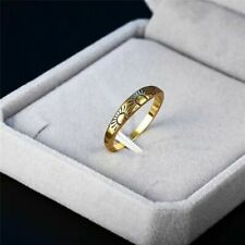 New Women Fashion Jewelry 18K Gold Plated Size 9 Dainty Sun Ring Finger