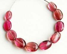 Natural Pink Rubellite Tourmaline Smooth Polish Oval Nugget Gemstone Beads