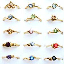 100pcs Wholesale Jewelry lots Mixed Rings Zircon Crystal Rhinestone Gold P Rings